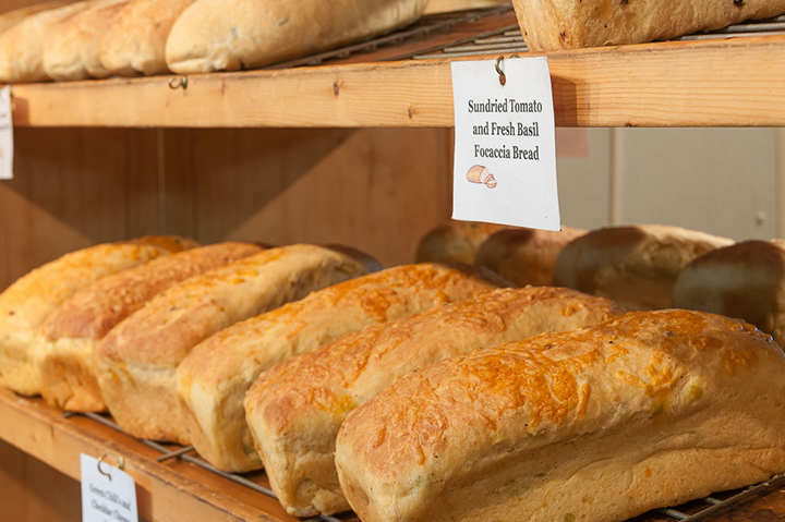 Image of breads on rack