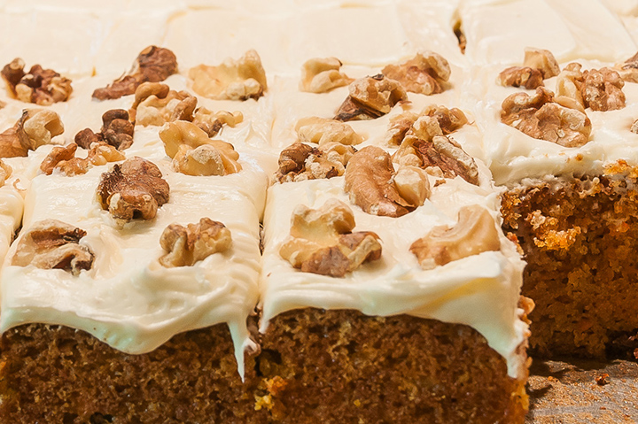 Image of carrot cake with frosting