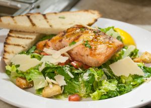 Caesar Salad with with Salmon image