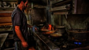 Image of kitchen activity